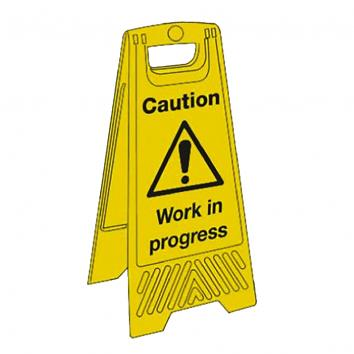 Janitorial Floor Stand - Caution Work in Progress