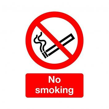 Safety Sign - No Smoking  210 x 148  Rigid PVC