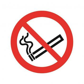 Safety Sign - No Smoking Symbol 100 x 100   Rigid PVC