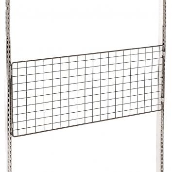 985x500 Twin Slot Mesh Panel Chrome