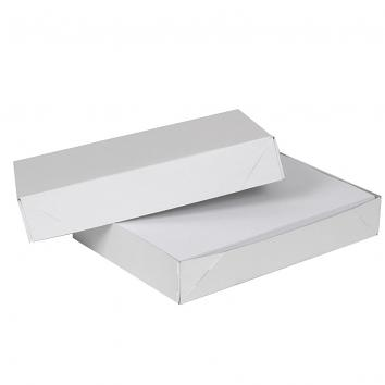 305x225x57mm White Solid Board Ream Boxes -1X50