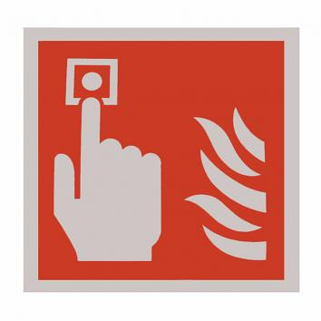 Safety Sign -Fire Alarm Call Point - 100 x 100 Self Adhesive
