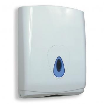 White C- or Z- Fold Paper Towel Dispenser