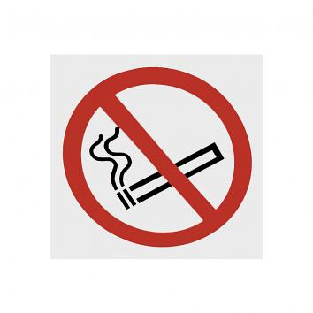 No Smoking Symbol. 100x100mm Window Sticker