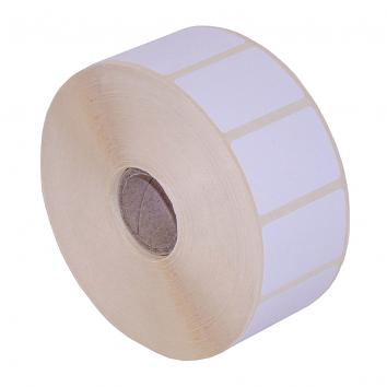 38x25mm Direct Thermal Top Coated Label, Blank, High Tack Removeable, 2000 on a Roll WEL