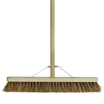 "18"" Stiff Bassine Broom With Handle"