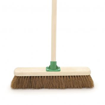 "18"" Soft Coco Broom With Handle"