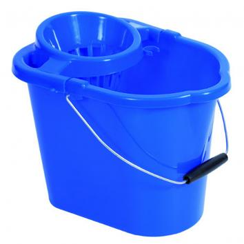 Plastic Mop Blue Bucket With Wringer