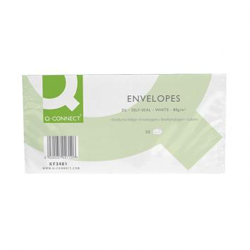 DL Self Seal White Pocket Envelopes (pack of 50)