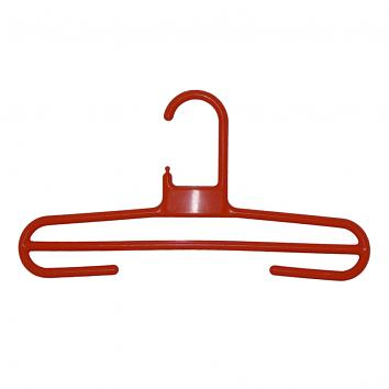 34cm Rainbow Plastic Trouser Hangers Red