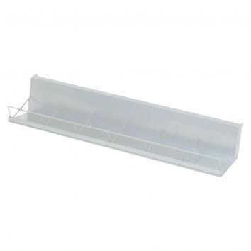 Instore®30 Multimedia Display Rack -1000mm Wide.  White 6 Compartment CD