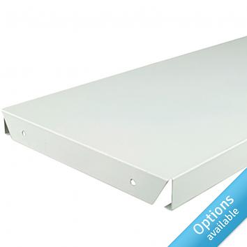 White Continuous Steel Shelves