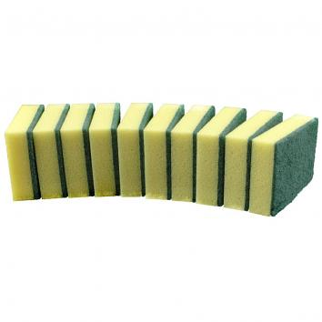 Sponge Backed Scourers (Pack Of 10) (10)