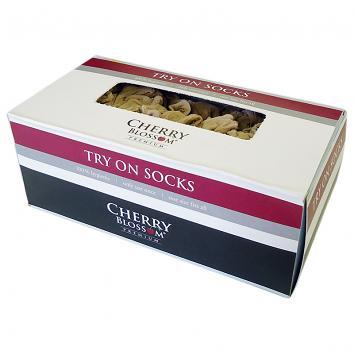 Cherry Blossom Try-On Socks (Pack of 144) (144)