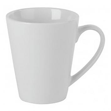 Simply Economy White Conical Mugs 12oz (Pack Of 6)