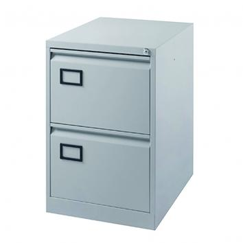 Filing Cabinet - 2 Drawer Grey