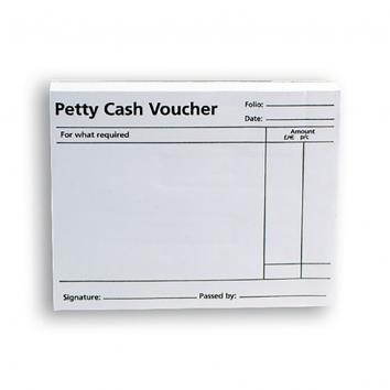 Q-Connect Petty Cash Voucher Pad