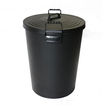 110litre Black Dustbin & Lid