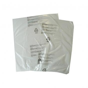 "250x300mm (10x12"") 100g Clear Perf Polybags Printed One Side Multi Lang Warning Notice"