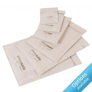 White Envosafe™ Secure Bubble Mailing Bags