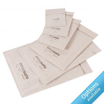 White Envosafe™ Secure Bubble Mailing Bags