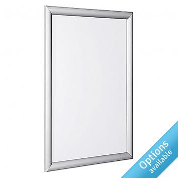 Anodised Aluminium Snapframe with Silver Frame