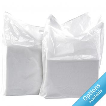 White LD Carrier Bags