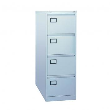 4-Drawer Grey Filing Cabinet