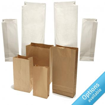 Kraft Block Bottom Bags