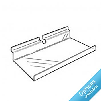 Flat Slatwall Shelves With Lip