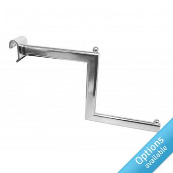 Chrome Stepped Arm For Oval Tube