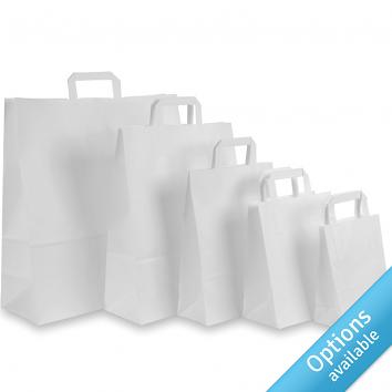 Paper Tape Handle Carriers - White