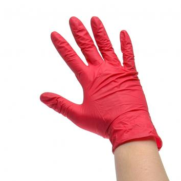 Large Red Vinyl Powder Free Gloves (pack of 100)