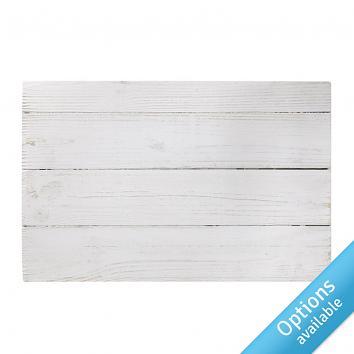 Street76 Plank Shelves - White Wash