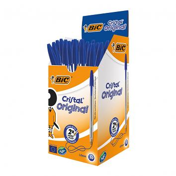 BIC Cristal Blue Biro - Pack of 50