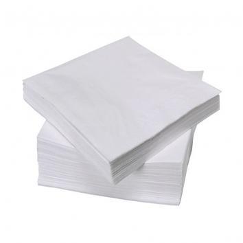 "33cm (13"") 2 Ply Standard White Napkins - 1x250"