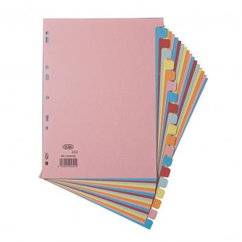 Elba A4 Card Dividers - 20 Part Assorted