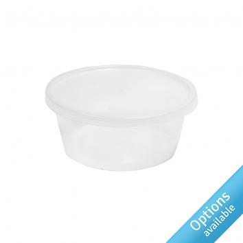 Round Clear Microwaveable Containers & Lids