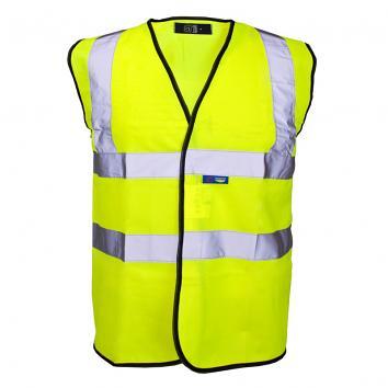 Sleeveless Hi Vis Waistcoat Yellow Medium