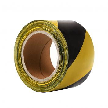 70mmx500m Black/Yellow Non-Adhesive Barrier Warning Tape