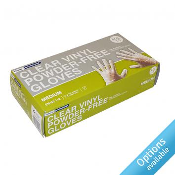 Clear Vinyl Powder Free Gloves (pack of 100)