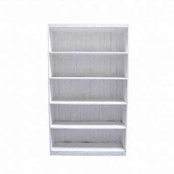 1190x390x2000mm Street76 Bookcase Unit White Wash