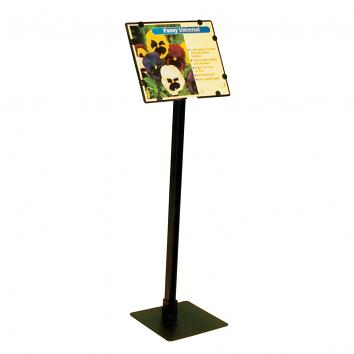 Non-telescopic, Angled Head A5 head sign holder With 325mm Stem