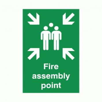 Safety Sign -Fire Assembly Point  400 x 300 Rigid PVC