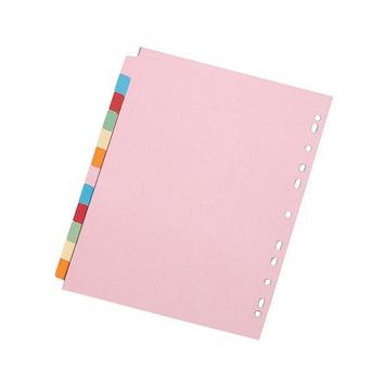 A4 Subject Dividers 12 Part (Pack Of 10)