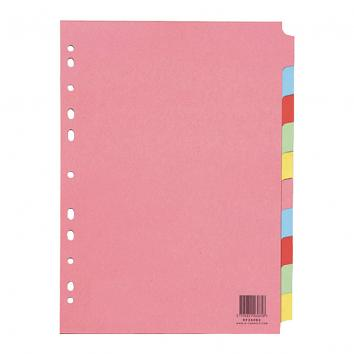 Q-Connect A4 Subject Dividers 10 Part (Pack Of 25)
