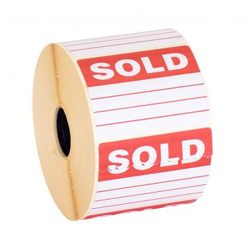 68x40mm Sold Parcel Label (1000)