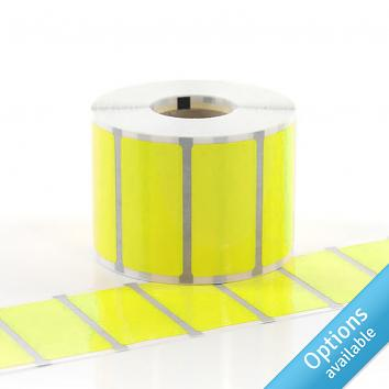 76x51mm Coloured Dayglo Paper Labels on a Roll - PERM