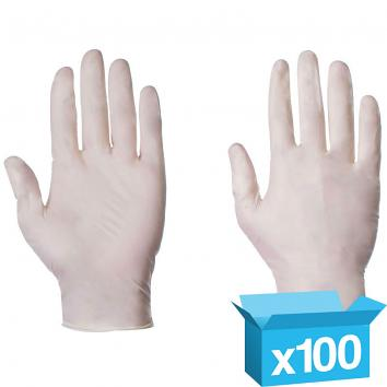 Powder Free Latex Gloves Large - 1x100
