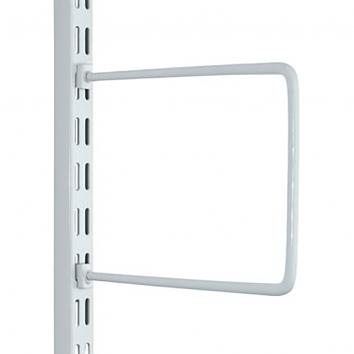 White Flexible Book End For Slotted Upright 250mm - Pair